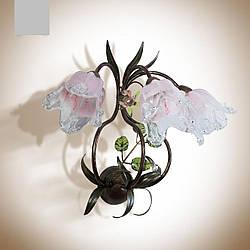 Настенный светильник, бра 3-х ламповое в стиле флора с цветами 4603-1
