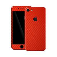 Красный Карбон на iPhone 7 Виниловые Декоративные Наклейки Скин Защитная Пленка под Carbon Винил Стикер