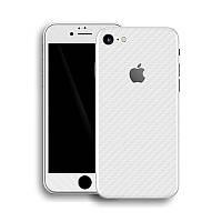 Белый Карбон на iPhone 7 Виниловые Декоративные Наклейки Скин Защитная Пленка под Carbon 3D Винил Стикер