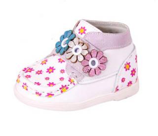 Ботинки для девочек, белые