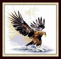 Величественный  орел  Набор для вышивки крестом с печатью на ткани 14ст