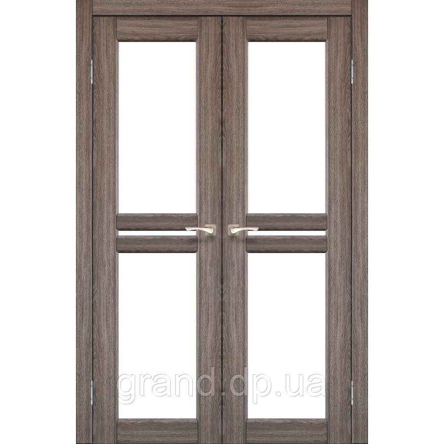 Двери межкомнатные Корфад MILANO Модель: ML - 09 дуб грей c матовым стеклом