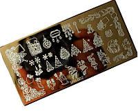 Трафарет для стемпинга металлический SPH-002