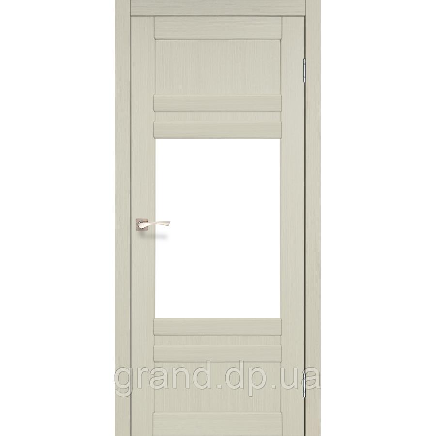 Двери межкомнатные Корфад TIVOLI Модель:TV-01  дуб беленый c матовым стеклом