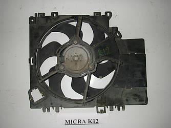 Диффузор с вентилятором кондиционера 1.2 Nissan Micra (K12) 02-11 (Ниссан Микра К12)