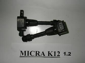 Катушка зажигания 1.2-1.4 Nissan Micra (K12) 02-11 (Ниссан Микра К12)  22448AX001