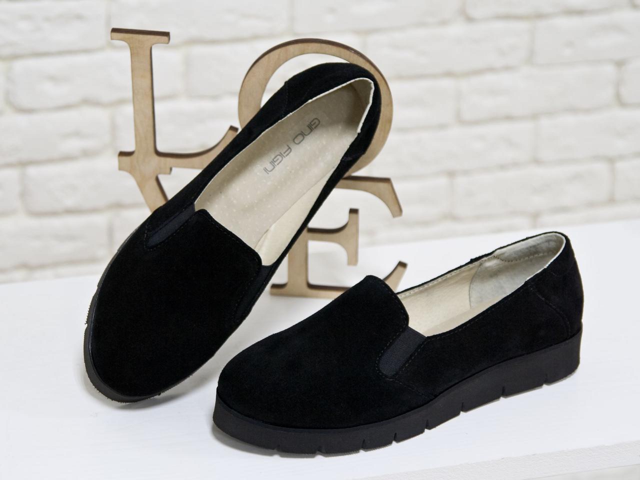 Туфлі жіночі замшеві на товстій підошві. Розмір 36-41