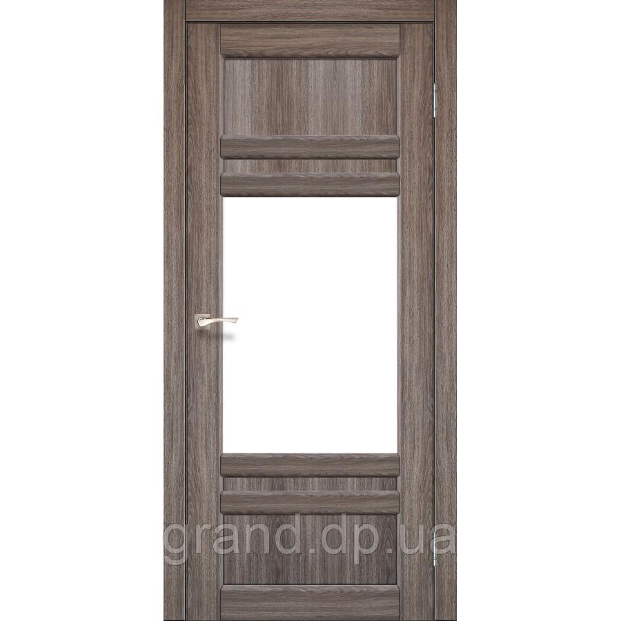 Двери межкомнатные Корфад TIVOLI Модель:TV-01 дуб грей c матовым стеклом
