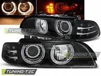 Фары BMW E39 ANGEL EYES BLACK LED INDIC