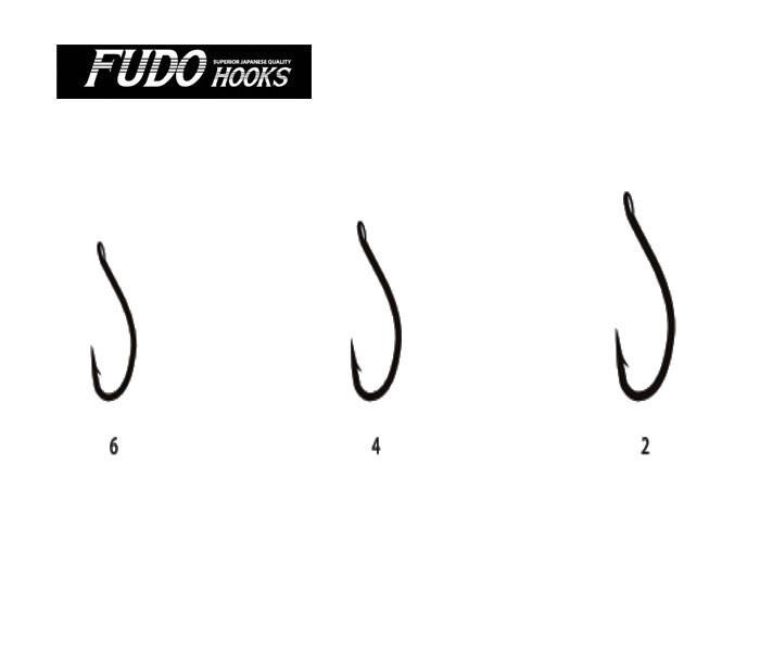 Крючок Fudo Сarp 2 Black Nickel 6шт. Japan