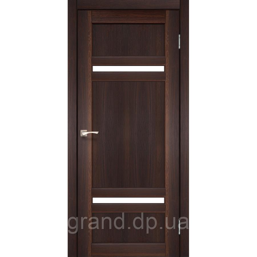 Двери межкомнатные Корфад TIVOLI Модель:TV-03 орех c матовым стеклом