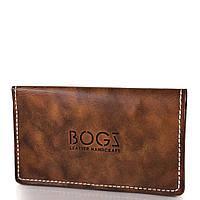 Кошелек или Портмоне BOGZ Мужской кожаный бумажник ручной работы BOGZ (БОГЗ) BZ-1-A124