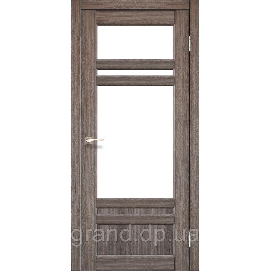 Двери межкомнатные Корфад TIVOLI Модель:TV-04 дуб грей c матовым стеклом