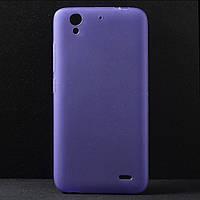 Чехол накладка силиконовый TPU для Huawei Ascend G630 фиолетовый