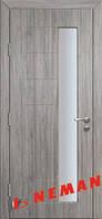 Дверь межкомнатная Геометрия ПО (дуб-графит, дуб-крем)
