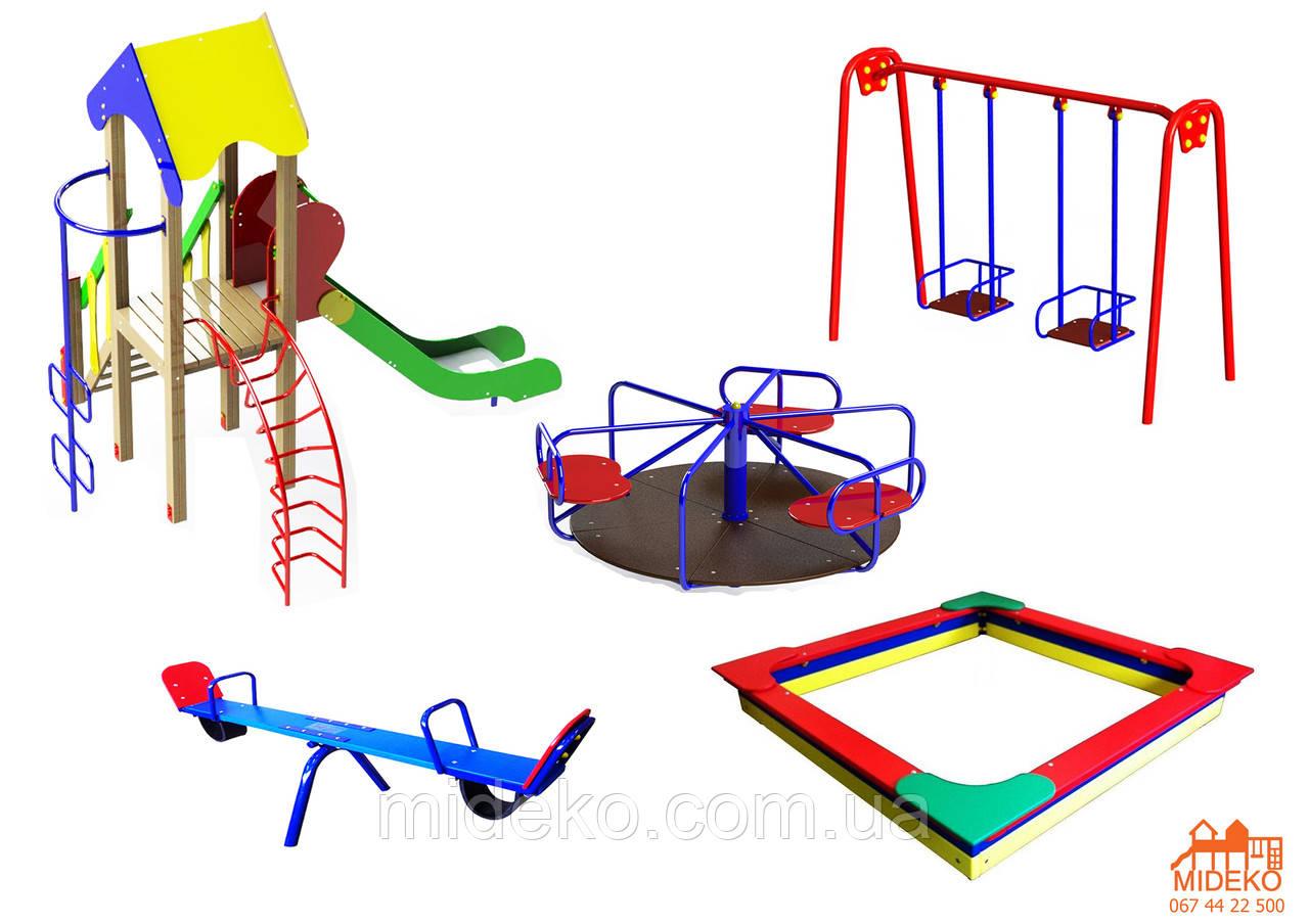 Детская площадка 4501 с песочницей 2м и горкой 1,5м