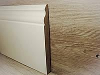 Копия Плинтус для пола МДФ Белый высокий под покраску 14,2х140х2400мм