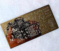 Трафарет для стемпинга металлический SPH-007