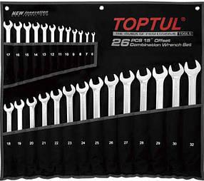 Набір ключів комбінованих 26 шт. 6-32мм подовжених Toptul GPAA2602