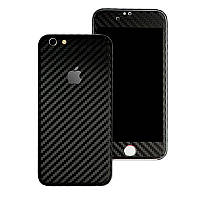 Черный Карбон на iPhone 6 Plus и 6s Plus Виниловые Декоративные Наклейки Скин Защитная Пленка под Винил Стикер