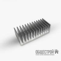 Радиатор для светодиодов 122х26х100 мм. алюминиевый профиль охлаждения без покрытия, фото 1