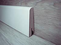 Плинтус напольный МДФ Белый скошенный 17х58х2400 мм
