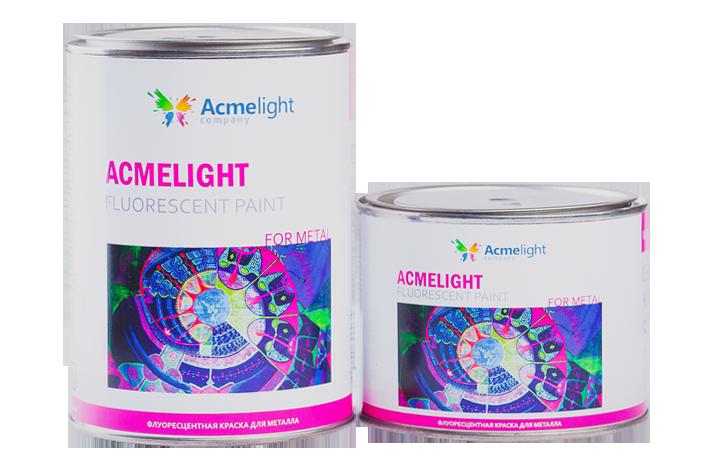 Acmelight Fluorescent paint for Metal - флуоресцентная краска для металла и дисков 0,75л, 1,5л
