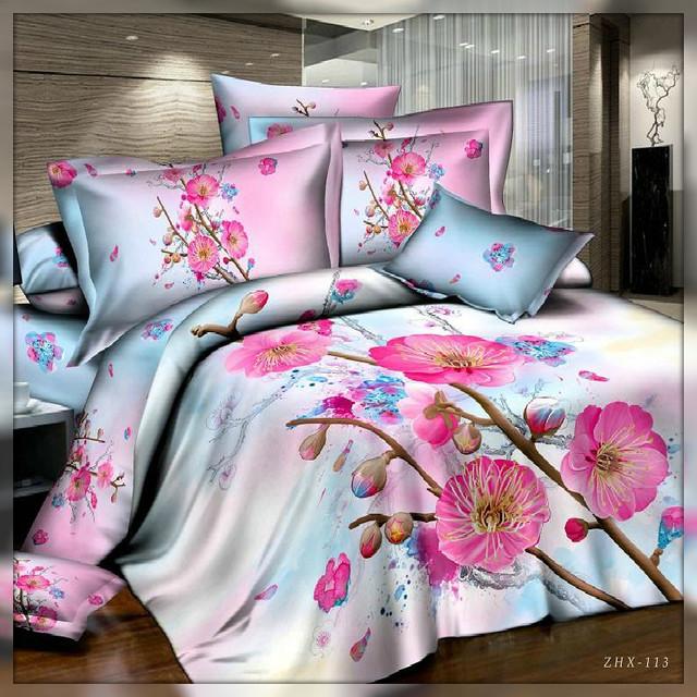 Двуспальные комплекты постельного белья полисатин 3d