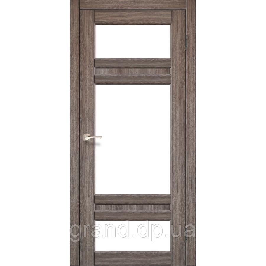 Двери межкомнатные Корфад TIVOLI Модель:TV-05 дуб грей c матовым стеклом