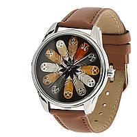"""Часы ZIZ маст-хэв """"Совы"""" (коричневый, серебро)"""