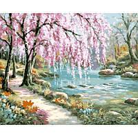 Картина по номерам 40*50 см Чудесный сад 2811