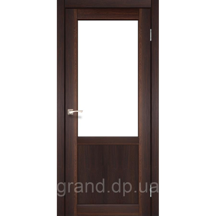 Двери межкомнатные Корфад PALERMO Модель:PL-02 орех c матовым стеклом