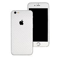 Белый Карбон на iPhone 6 Plus и 6s Plus Виниловые Декоративные Наклейки Скин Защитная Пленка 3D Винил Стикер