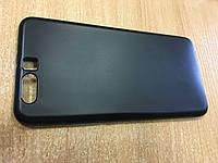 Силиконовый чехол черный матовый для Huawei P10Plus