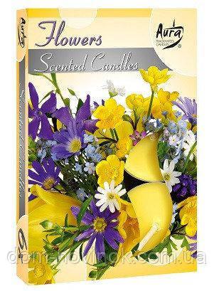 Свечи ароматические цветы чайные таблетки 6 шт .