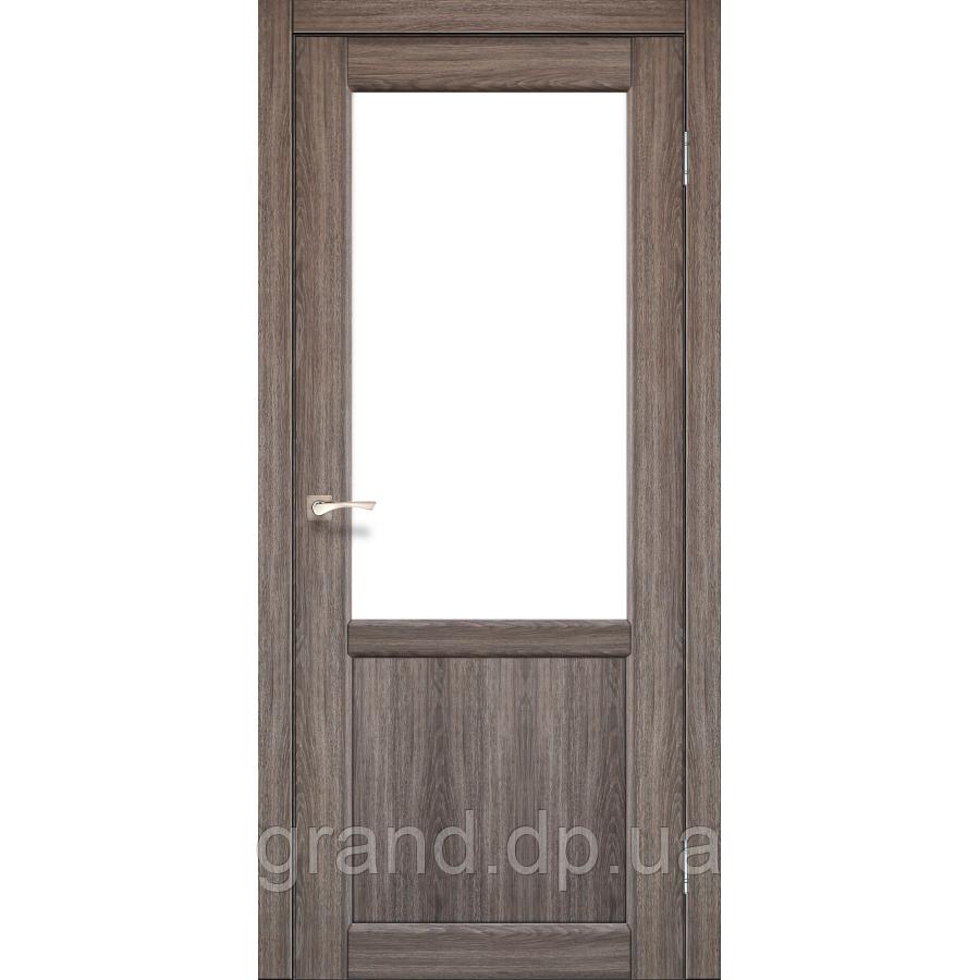 Двери межкомнатные Корфад PALERMO Модель:PL-02 дуб грей c матовым стеклом