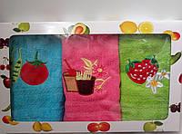 Набор махровых кухонных полотенец из 3шт