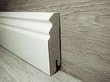 Плинтус МДФ Белый фигурный 18.2х70х2400мм., Pedross Италия, фото 2
