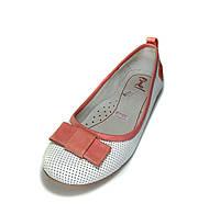 Белые кожаные туфли-лодочки. Размеры 32