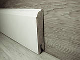 Плинтус МДФ Белый пристенный 14.2х70х2400мм., Pedross Италия, фото 3