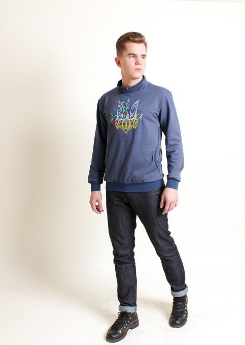 006b292a5bb Современный мужской свитшот с патриотической вышивкой - Оптово-розничный  магазин одежды