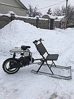 Снегоход-снегокат Лоцман компакт 150 см.куб
