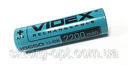 Аккумулятор Videx Li-Ion 18650(без защиты) Реал.2200mAh