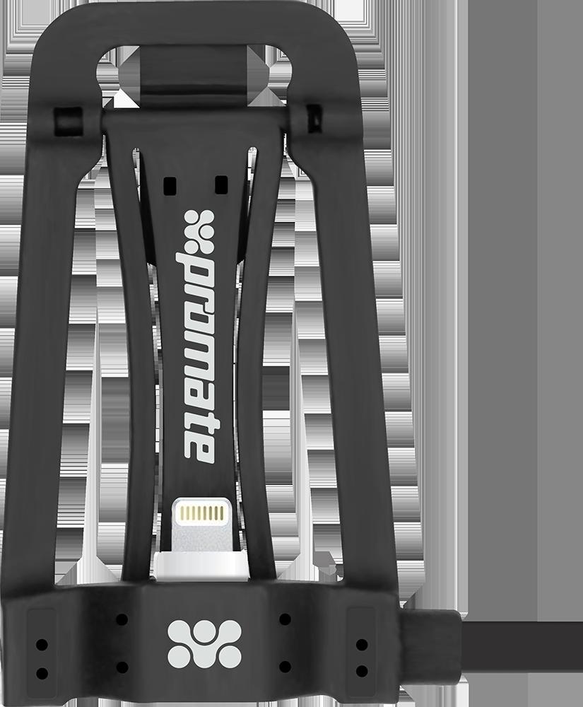 Кабель c подставкой Promate Pose-LT Lightning-USB 1.15 м Black