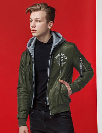 Демисезонная мужская куртка KIRO TOKAO хаки (р. 46-56) арт. 318М, фото 2