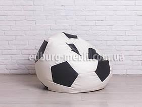 Кресло мяч 90 см | белый+черный кожзам Zeus