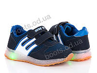 """Кроссовки """"Ok Shoes"""" №1151-1 navy/blue (р.21-26).Оптом."""