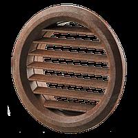 Приточно-вытяжные решетки круглые пластиковые дверные МВ 50/2 бВ коричневые Вентс