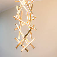Люстра из дерева, светильник led, минимализм, модерн, светильник потолочный, стильный светильник - Genesis
