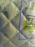 Одеяло хлопковое с  холлофайбером салатовое - Ковдра бавовняна з холлофайбером салатове